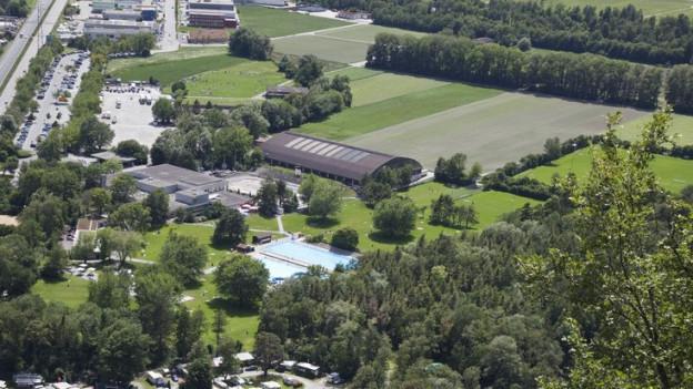 Sportanlagen auf der Oberen Au in Chur sollen ausgebaut werden.