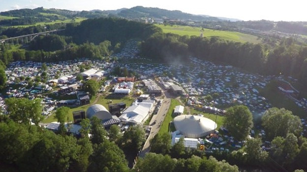 Jeden Tag befinden sich 30'000 Festivalbesucher auf dem Gelände.
