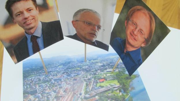 Drei Kandidaten wollen Stadtpräsident werden