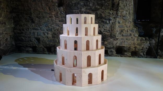 Modell des Theaterturms