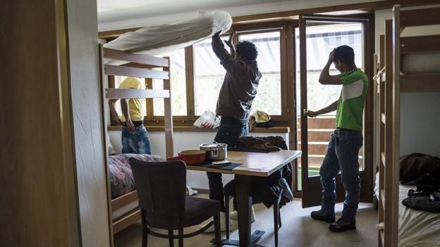Das Dorf wehrte sich vor drei Jahren mit Händen und Füssen gegen ein Asylheim. Heute hat sich die Situation beruhigt.