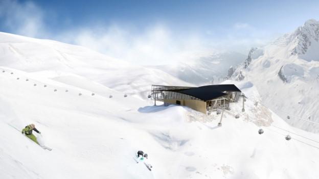 Im Vorarlberg entsteht eine neue, grosse Konkurrenz für die Skigebiete in der Ostschweiz und Graubünden.