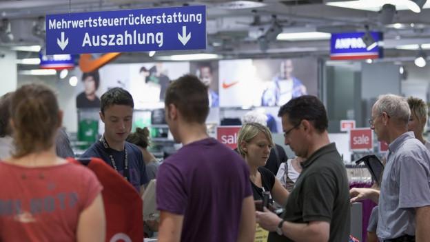 Weniger Einkauftourismus in Konstanz aus der Schweiz.