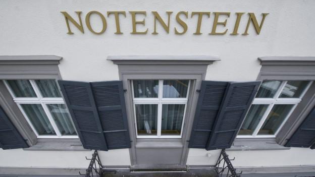 Blick auf Notenstein - Bank