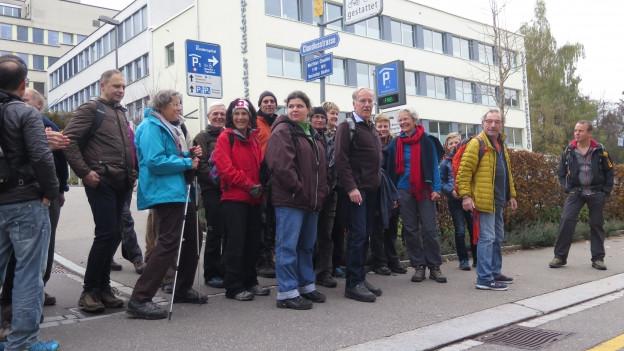 Protestmarsch für das Spital Heiden.