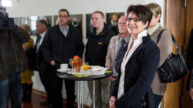Inge Schmid bei einer Wahlveranstaltung.