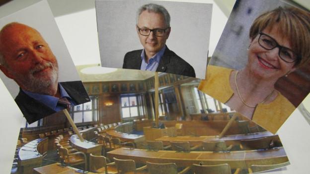 Dölf Biasotto, Inge Schmid und Peter Gut wollen in den Regierungsrat.