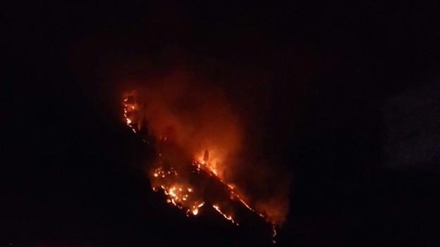 Die Trockenheit führt in Graubünden zu Waldbränden.