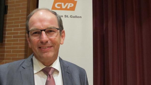 Am Montag wurde dem St. Galler Politiker ein Herzkatheter eingeführt. Der Eingriff sei gut verlaufen.