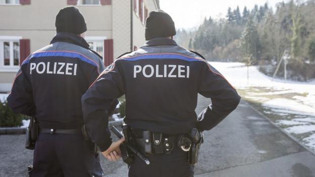 Bei einem Einsatz wurden zwei Polizisten angeschossen.