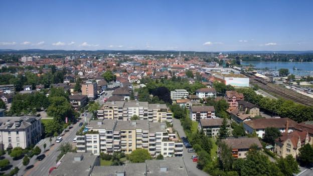 Blick von Kreuzlingen Richtung Konstanz.