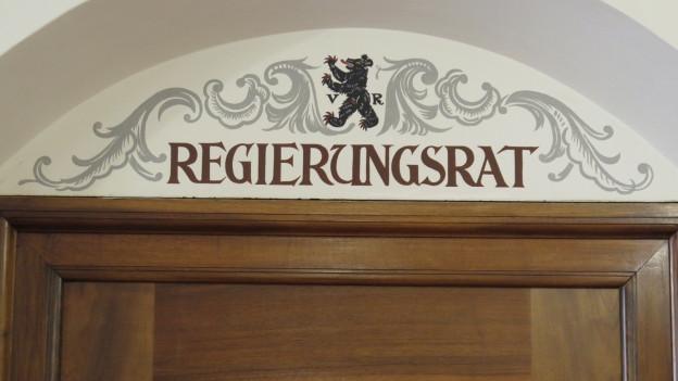 Beschriftung am Regierungsratszimmer in Herisau
