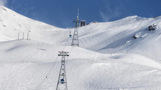 Skigebiet Lagalb im Engadin.
