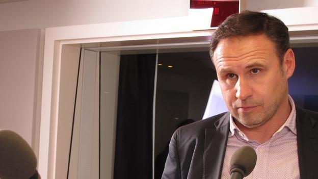 FC Wil: Präsident Roger Bigger im Regionalstudio St. Gallen.
