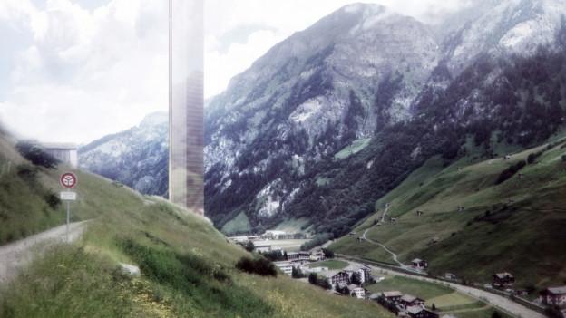 Neuer Standort für Turm in Vals