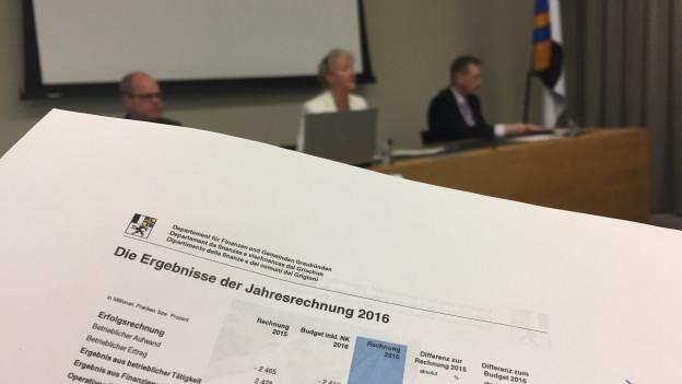 Regierung präsentiert Rechnung