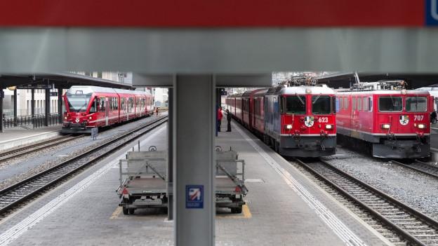 Rhätische Bahn in Chur