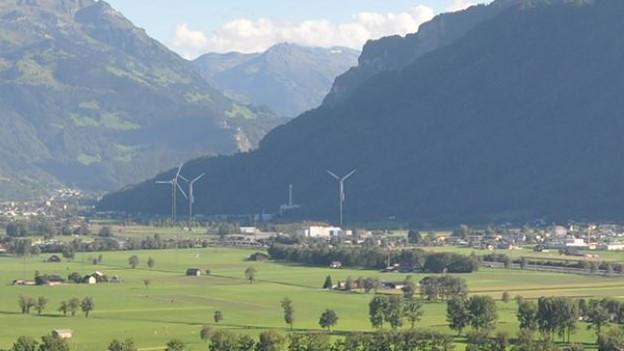 So soll der Windpark im Glarnerland aussehen.