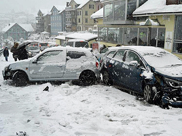 Rekordschnee - Wintereinbruch in der Ostschweiz