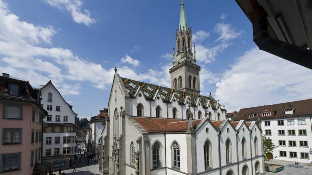 Ausflugsziel für Touristen: Kirche St. Laurenzen in St. Gallen.