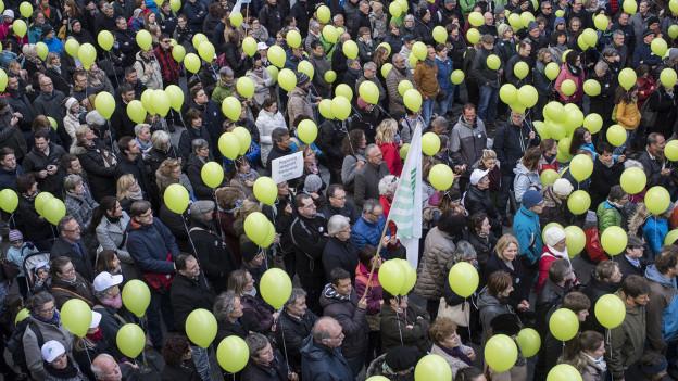 Demonstrationszug in St. Gallen