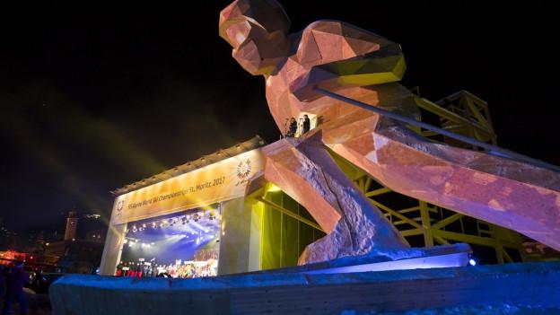 Der heimliche Star an der Ski WM in St. Moritz war Edy.