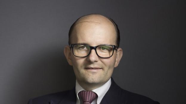 Unternehmer Remo Stoffel 2015 in seinem Büro in Chur.
