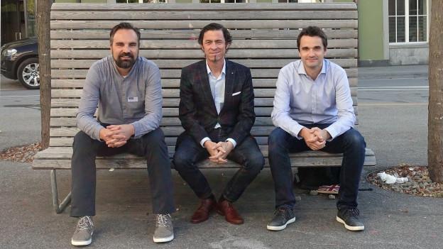 (v.l.) Eturnity AG (Peter Novotny), CB Financial Services AG (Marcel Komminoth), energieingenieur.ch GmbH (Enrico Feurer).