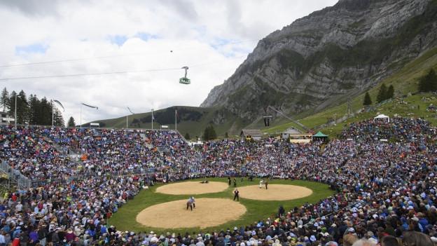 Das Schwägalp-Schwinget 2017 zog über 13'000 Besucher an.