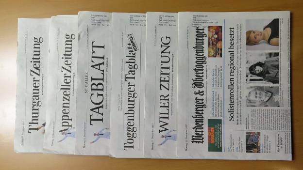 Nach der Ankündigung einer weitere Medienkonzentration fordert die St.Galler SP ein Eingreifen der Regierung.