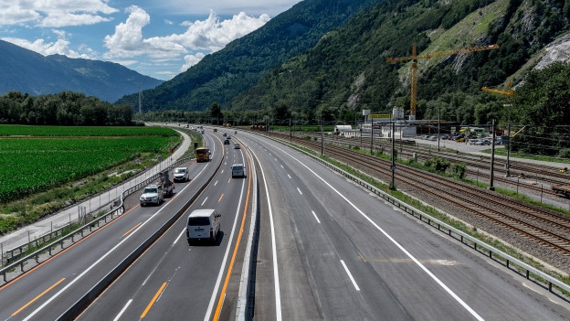 Die A13 zwischen Chur Nord und Zizers