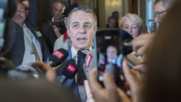 Ignazio Cassis kurz nach der Wahl in den Bundesrat