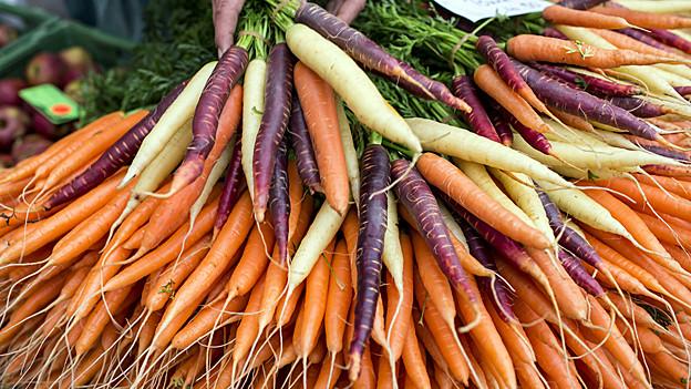 Volle Karotten-Lager