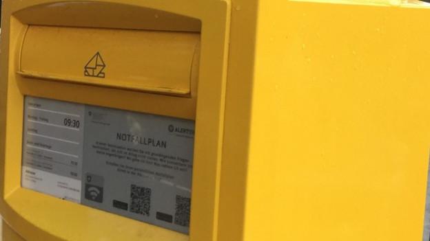 Der Briefkasten informiert bei Notfällen und Katastrophen