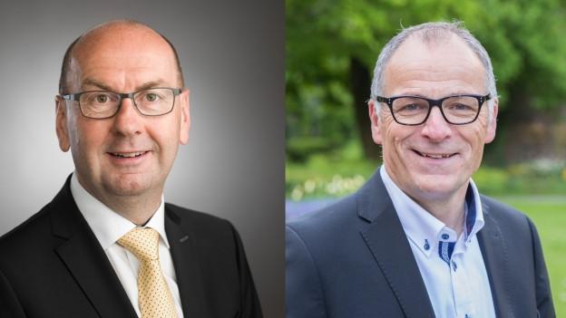 Portrait der beiden Kandidaten