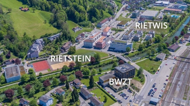 Luftbild des geplanten Campus