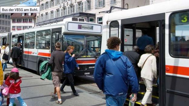 Die Busse der VBSG haben in den letzten drei Jahren weniger Passagiere befördert.