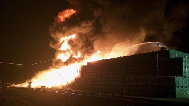 Beim Brand am Wochenende entstand Millionenschaden.