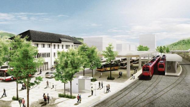 Umbau Bahnhof Herisau - 38-Millionen-Projekt