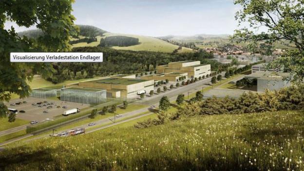 «Eingang zum Endlager» - so könnte die Anlage in Villigen aussehen.