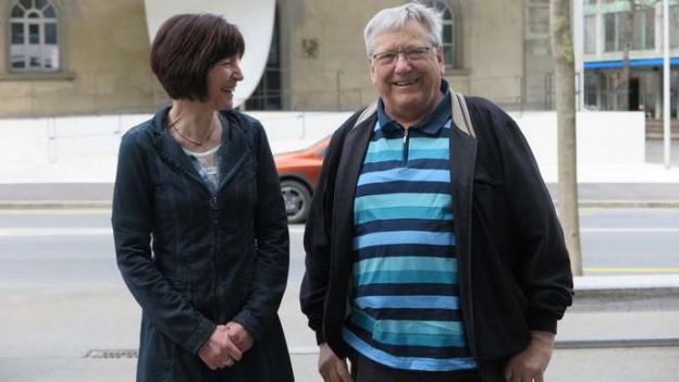 Christina Bucher-Brini (SP) und Christian Mathis (SVP) verabschieden sich aus dem Grossen Rat.