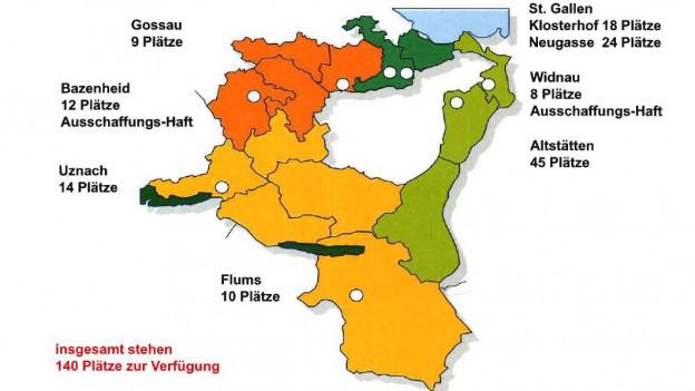 Die aktuelle Gefängnislandschaft St. Gallen