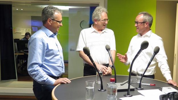 Säckelmeisterwahl: Die drei Kandidaten im Gespräch