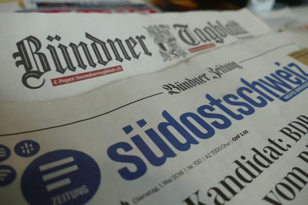 Die beiden Bündner Tageszeitungen «Südostschweiz» und «Bündner Tagblatt».