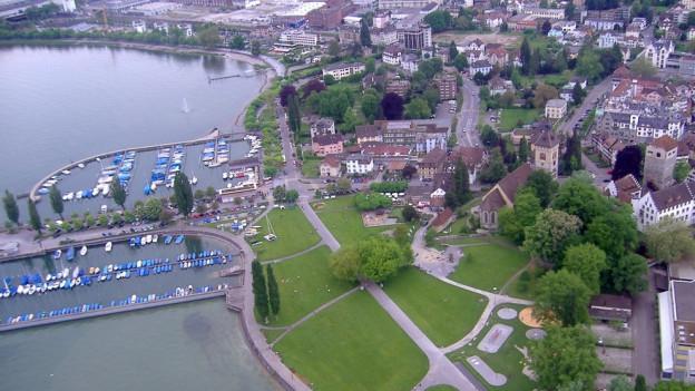 Luftbild Arboner Uferweg