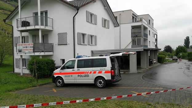 Ort des Verbrechens: Ein Mehrfamilienhaus in Thal/SG