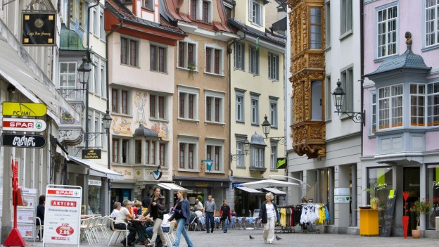 Fussgängerzone in St. Galler Innenstadt