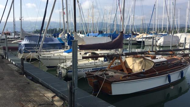 Schiffe im Arboner Hafen