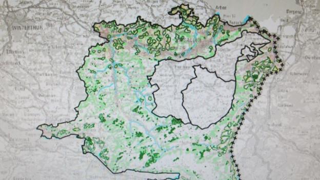 Karte des Kantons St.Gallen