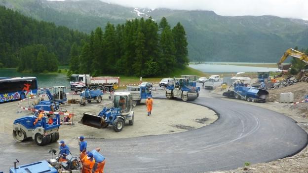 Der Bau der Umfahrung von Silvaplana dauerte acht Jahre